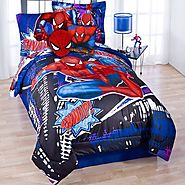 Marvel Ultimate Spiderman Twin Comforter & Sheet Bedding Set Spider-Man