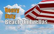 Best Heavy duty beach umbrellas protect from uv sun and wind