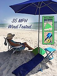 BeachBuB Heavy Duty Beach Umbrella Review for Strong Wind