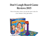 Don't Laugh Board Game Reviews 2015