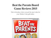 Beat the Parents Board Game Reviews 2015