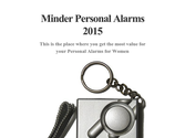 Minder Personal Alarms 2015