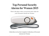 Top Personal Security Alarms for Women 2015