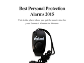 Best Personal Protection Alarms 2015