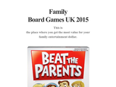 Family Board Games UK 2015