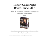 Family Game Night Board Games 2015