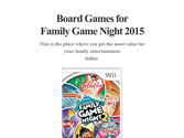 Board Games for Family Game Night 2015