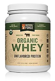 Natural Force - Organic Non GMO Cold Processes Undenatured Whey Protein Powder - Peakrite
