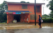 Flooding in Small Pacific nation of Vanuatu as cyclone hits maximum strength