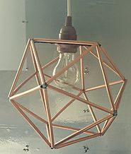 How to Make Copper Geometric Pendant Light Yourself