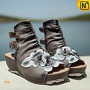 Leather Ankle Boot Sandals CW305226 - cwmalls.com