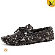 CWMALLS® Embossed Leather Driving Loafers CW707010