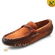 CWMALLS® Men's Suede Leather Penny Loafers CW707015