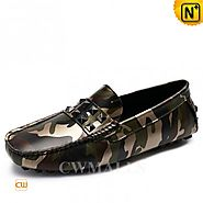 CWMALLS® Designer Camo Driving Loafers CW706166
