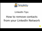 LinkedIn Tips: How to remove connections from your network - http:--www.simplicityadmins.com