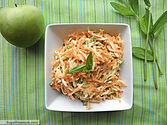 Carrot Apple Mint Slaw with Yogurt Honey Dressing