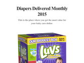Diapers Delivered Monthly 2015