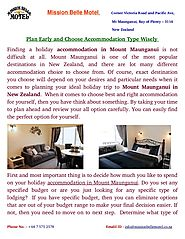 Plan Early and Choose Accommodation Type Wisely