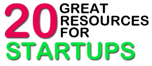 Headline for 20 Great Resources for Startups
