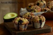 To Die For Avocado Blueberry Muffins