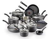 T-fal E918SH Ultimate Hard Anodized Nonstick Dishwasher Safe Oven Safe Cookware Set, 17-Piece, Black
