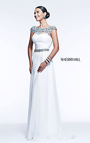 Cheap Ivory/Multi Beaded Sherri Hill 21272 High-Neck Long Prom Dress [Sherri Hill 21272 Ivory/Multi] - $188.00 : 2015...