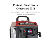 Portable Diesel Power Generators 2015