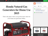 Honda Natural Gas Generators for Home Use 2015