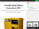 Portable Quiet Diesel Generators 2015