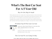 What's The Best Car Seat For A 5 Year Old