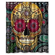 Best Sugar Skull Shower Curtain