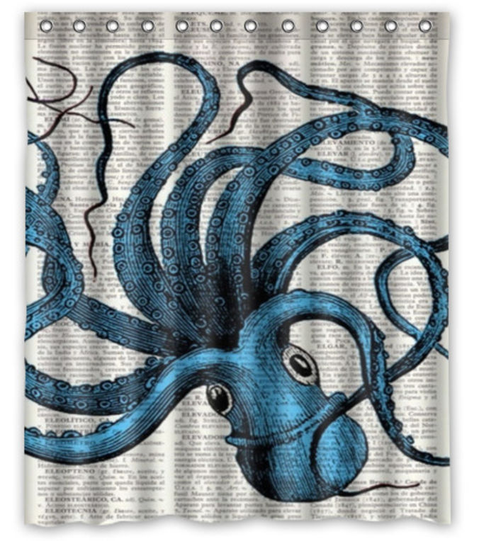 Best Black and White Octopus Shower Curtain Designs