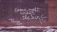 Mexico Tourism Board Made Billboards Out of Snow in Chicago This Spring