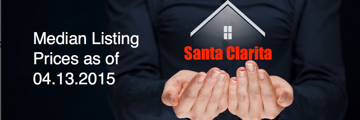 Headline for Santa Clarita real estate median list prices as of April 13, 2015 by REMAX