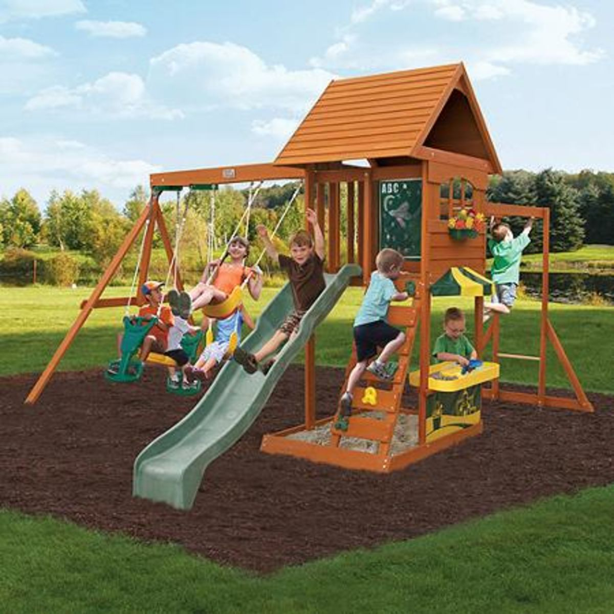 Headline for Best-Rated Wooden Backyard Swing Sets For Older Kids On Sale - Reviews And Ratings