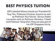 physics tuition jc