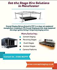 Get the Stage Hire Solutions in Manchester