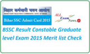BSSC Result Constable Graduate level Exam 2015 Merit list - All Exam News|Results|Exam Results|Recruitment 2015