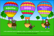 Adjective Balloon Ride