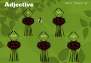 Sheppard Software's Adjective Adventure grammar game