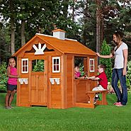 Backyard Discovery Summer Cottage Wooden Playhouse