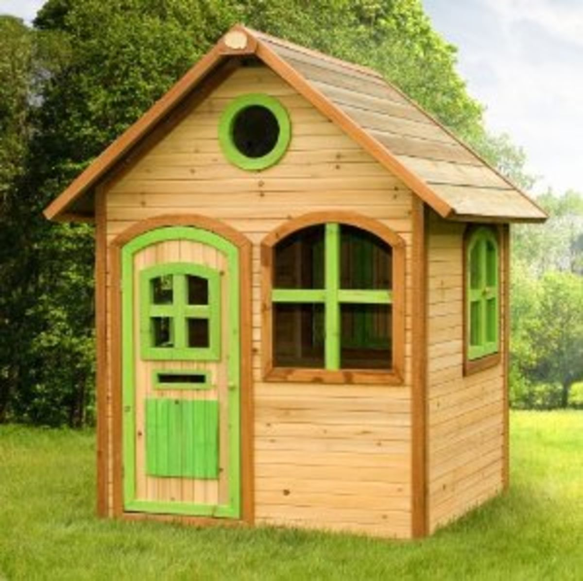 Headline for Best-Rated Children's Wooden Outdoor Playhouses For Sale - Reviews And Ratings