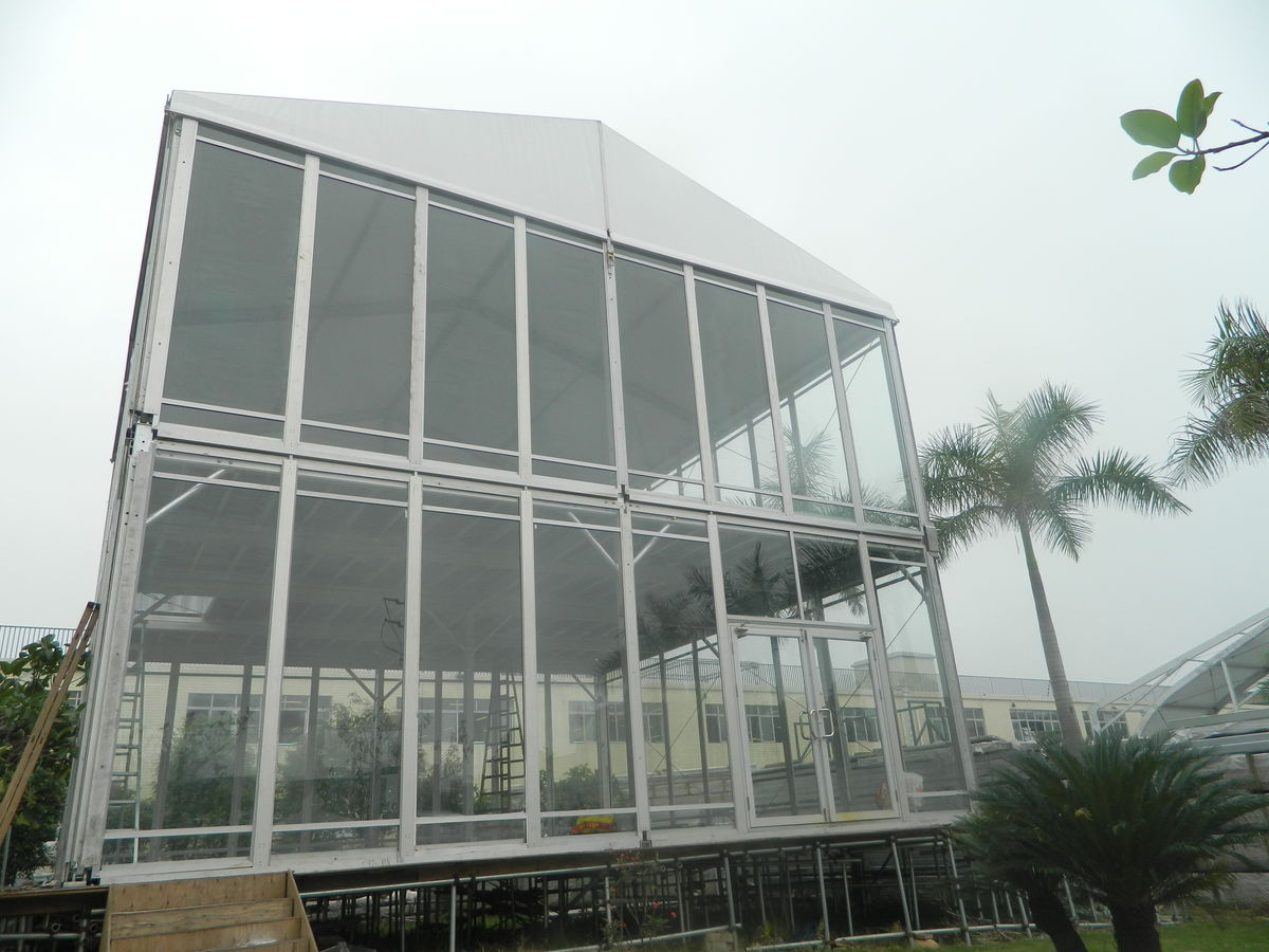 Headline for 10mx10m Double Decker Tent used as meeting house