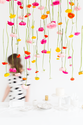 DIY Hanging Flower Installation | Sugar & Cloth