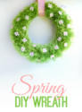 Adorable Spring Wreath #DIY #Craft #Spring - A Helicopter Mom