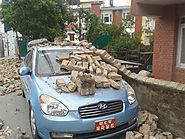 A car full of bricks