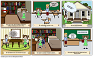 The story of a young writer storyboard by: montserratmejia