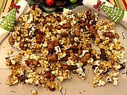 Caramel popcorn for the holidays