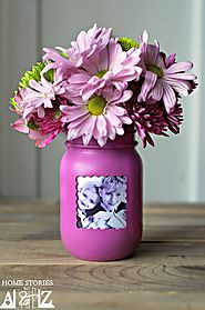 Mason Jar Picture Frame Vase - Home Stories A to Z