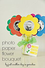 Photo Paper Flower Bouquet (with Printable)